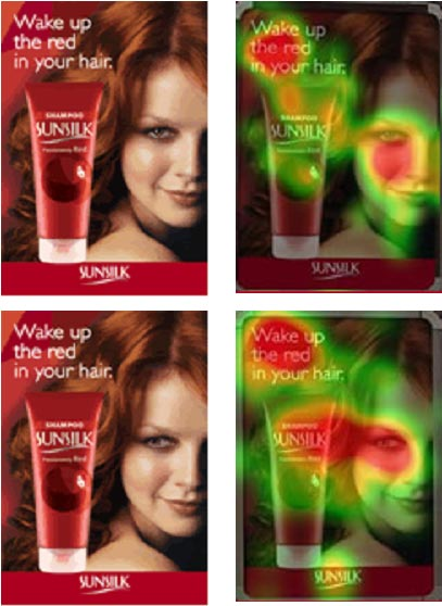 sunsilk eyetracking heatmap