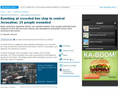 """Groupon """"Boom"""" Ad v.s. Bombing incident"""